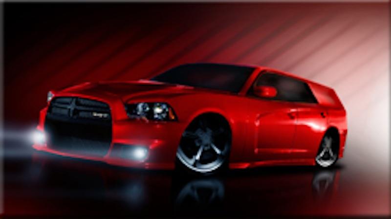 Custom White Dodge Challenger