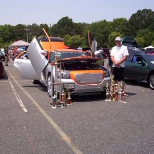 me and my magnum at the kent island car show