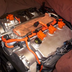 I Painted The Engine Silver And Coils Orange